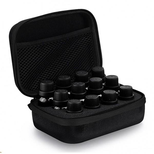 Tasche Schwarz / Schwarz für Ätherische Öle Aufbewahrung Organizer Reise für 12 Flaschen