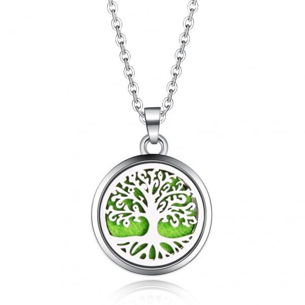 Halskette Baum des Lebens für Ätherische Öle, Diffuser Halskette Aromatherapie
