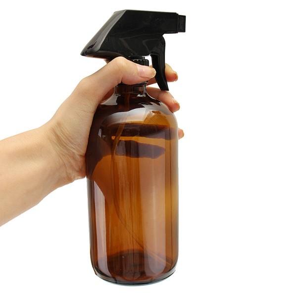 250 ml Trigger Spray Glas Flasche Zerstäuber Ätherische Öle Braunglas