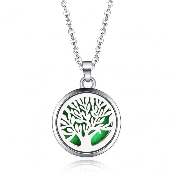 Halskette Baum des Lebens gerade für Ätherische Öle, Diffuser Halskette Aromatherapie