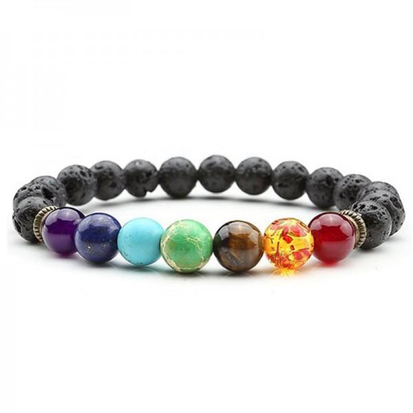 Chakra-Perlen-Armband für Ätherische Öle, 8 mm Naturstein-Perlen-Armband, für Männer und Frauen, Str