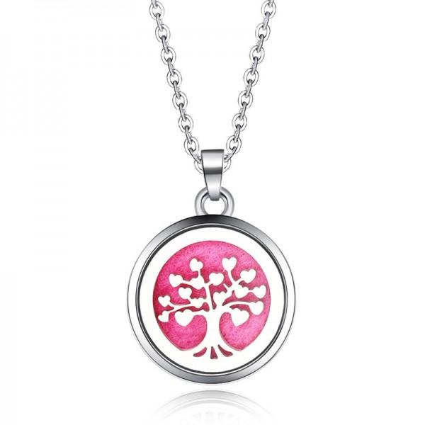 Halskette Baum des Lebens HERZEN für Ätherische Öle, Diffuser Halskette Aromatherapie
