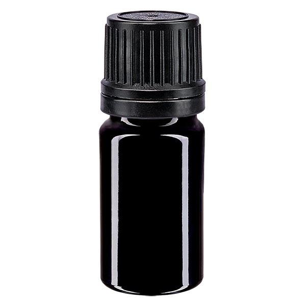 5 ml Violettglas Tropfflasche / Tropfeinsatz Glas Ätherische Öle
