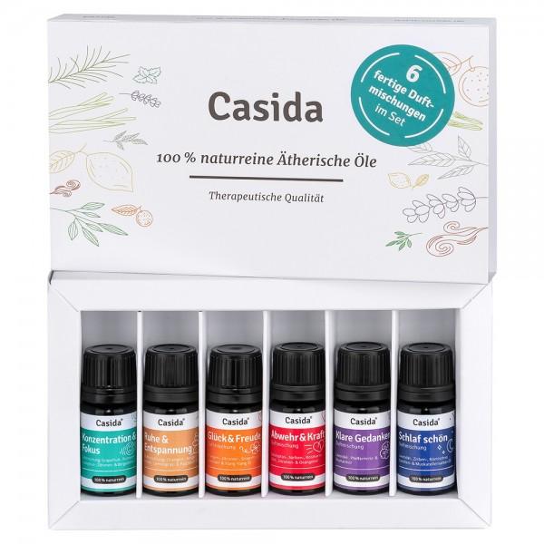 Casida TOP 6 Duftmischungen Set (je 5 ml) 17582437 PZN Apotheke Diffuser Aromatherapie Aromapflege